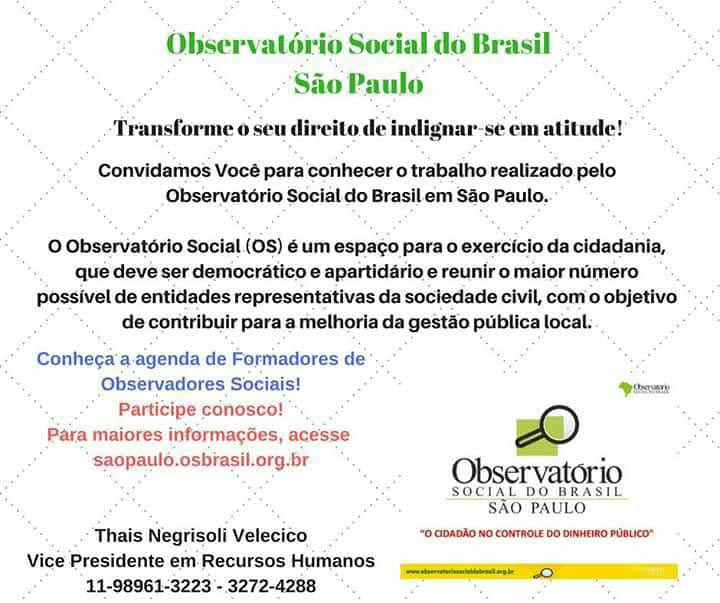 Convite para conhecer o OSB-SP